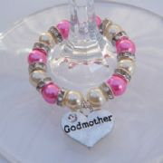 Godmother Wine Glass Charm - Full Sparkle Style